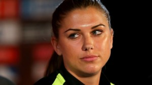 One might have selected an image that showed Alex-Morgan-the-girl in action—but FIFA.com would rather give us the chance to appreciate her perfect eyebrows.