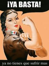 Adaptation of image of woman flexing her muscles.