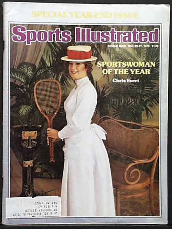 chris evert SI 1976