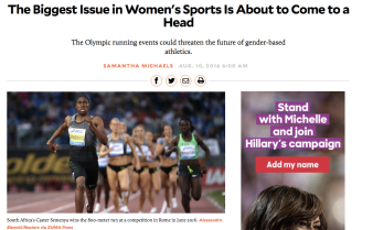 Mother Jones presents Semenya as a threat to women's athletics